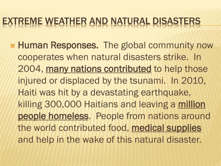Human Responses.