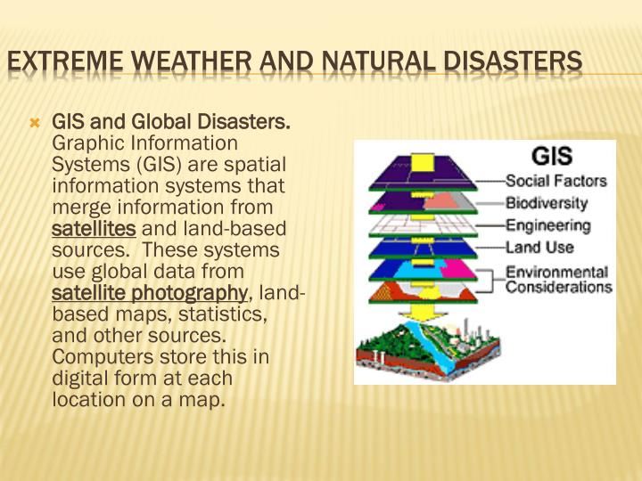 GIS and Global Disasters.