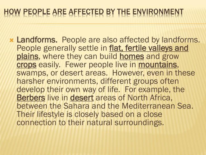 Landforms.