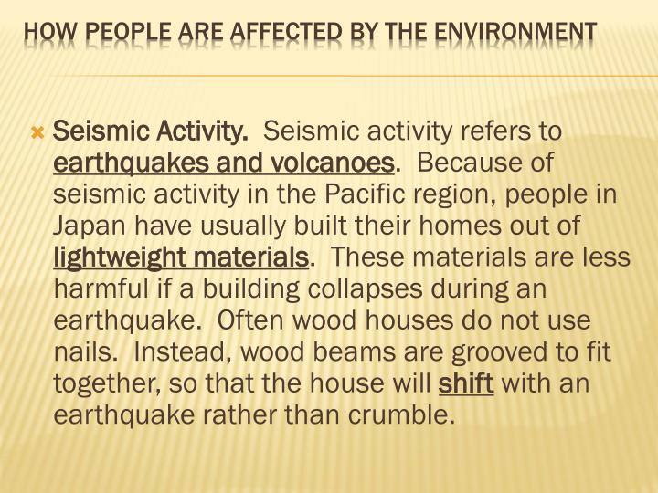 Seismic Activity.