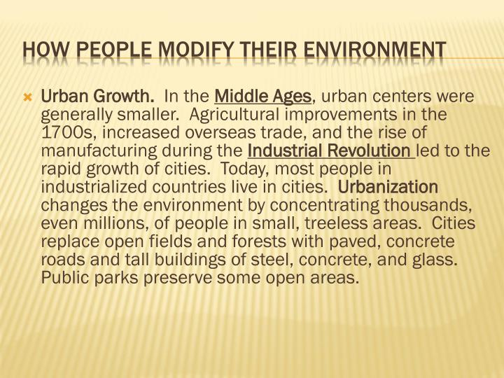 Urban Growth.