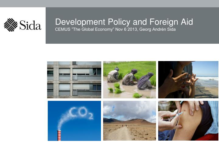 Development policy and foreign aid
