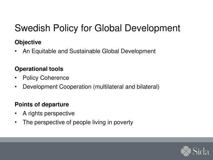 Swedish policy for global development