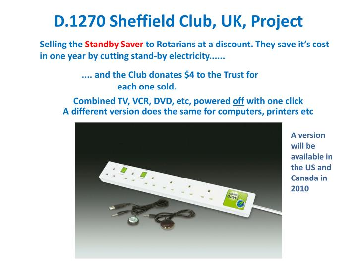 D.1270 Sheffield Club, UK, Project