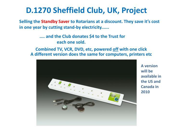 D.1270 Sheffield Club, UK, Project