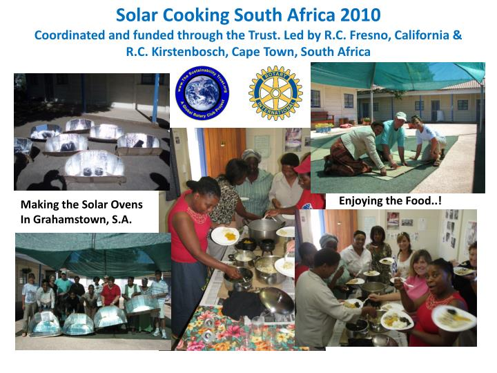Solar Cooking South Africa 2010