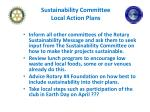 sustainability committee local action plans