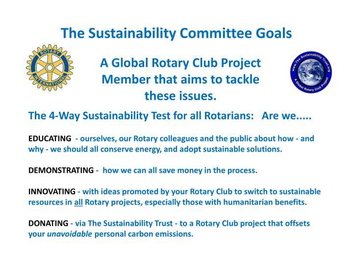 The Sustainability