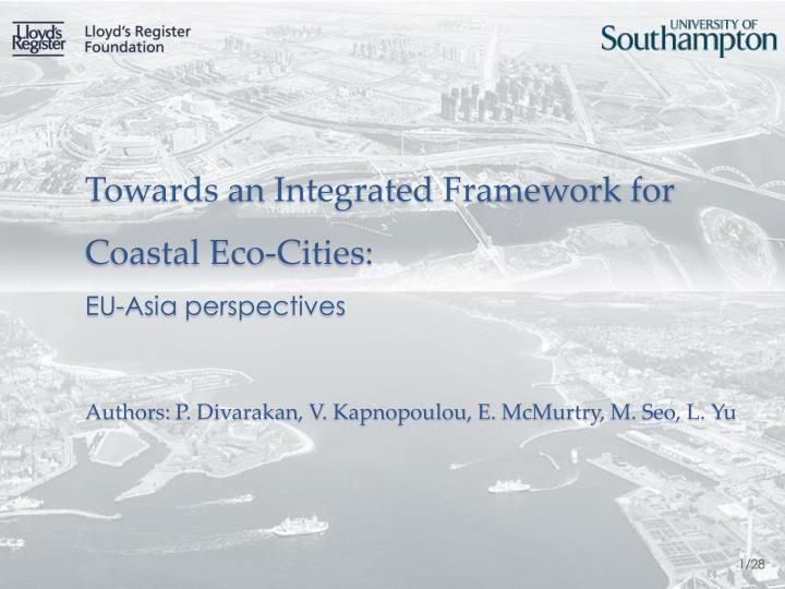 Towards an Integrated Framework for Coastal Eco-Cities: