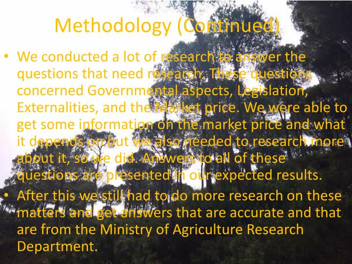 Methodology (Continued)