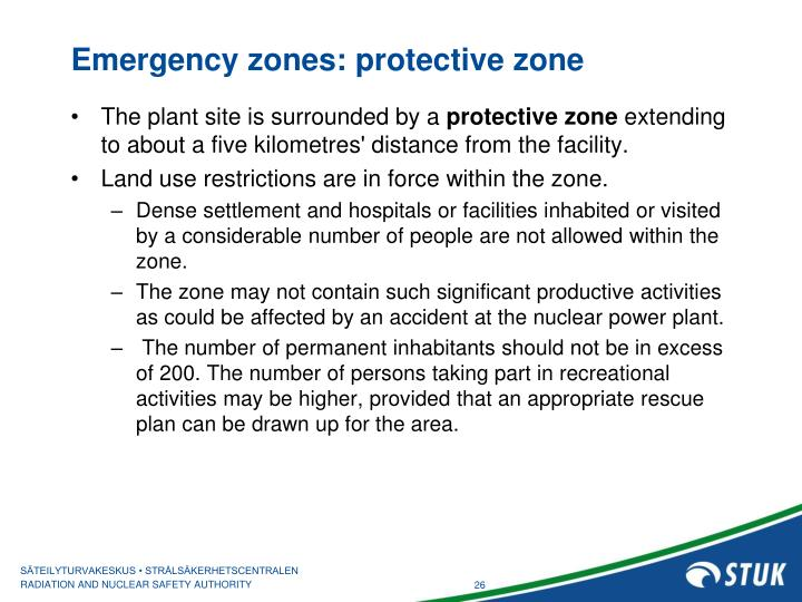 Emergency zones: protective zone