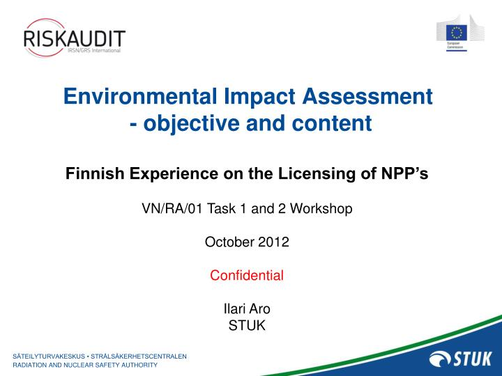 Environmental impact assessment objective and content