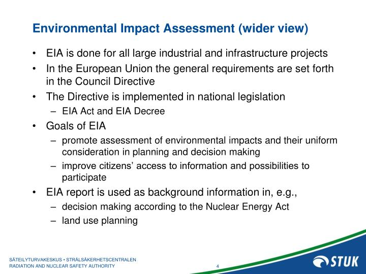 Environmental Impact Assessment (wider view)