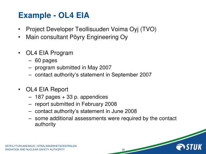 Example - OL4 EIA