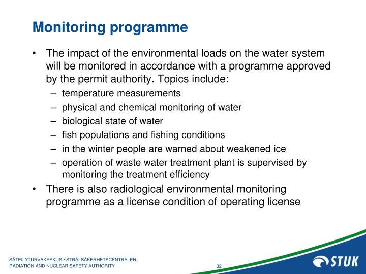Monitoring programme