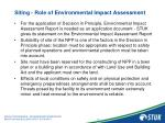 siting role of environmental impact assessment