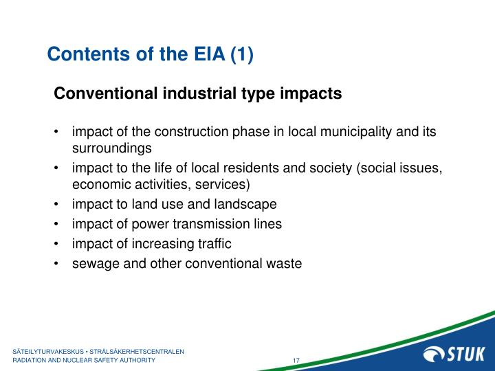 Contents of the EIA (1)