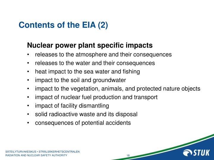 Contents of the EIA (2)
