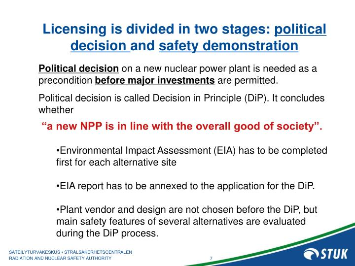 Licensing is divided in two stages: