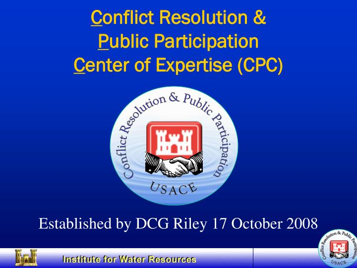 Conflict Resolution & Public Participation