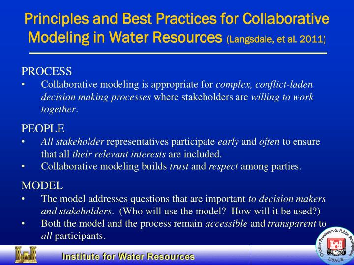 Principles and Best Practices for Collaborative
