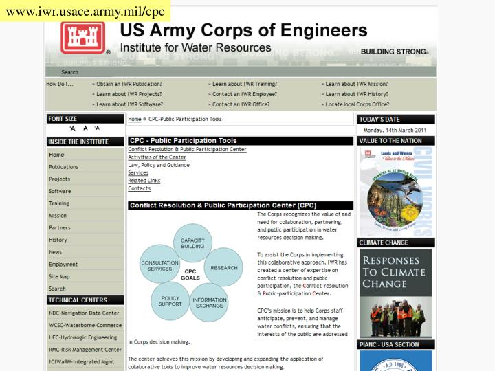 www.iwr.usace.army.mil/cpc