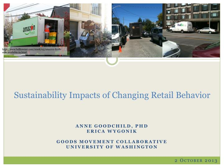 Sustainability impacts of changing retail behavior