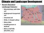 climate and landscape development1