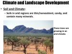 climate and landscape development2