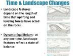 time landscape changes