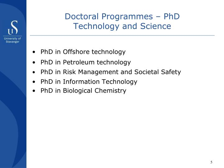 Doctoral Programmes – PhD