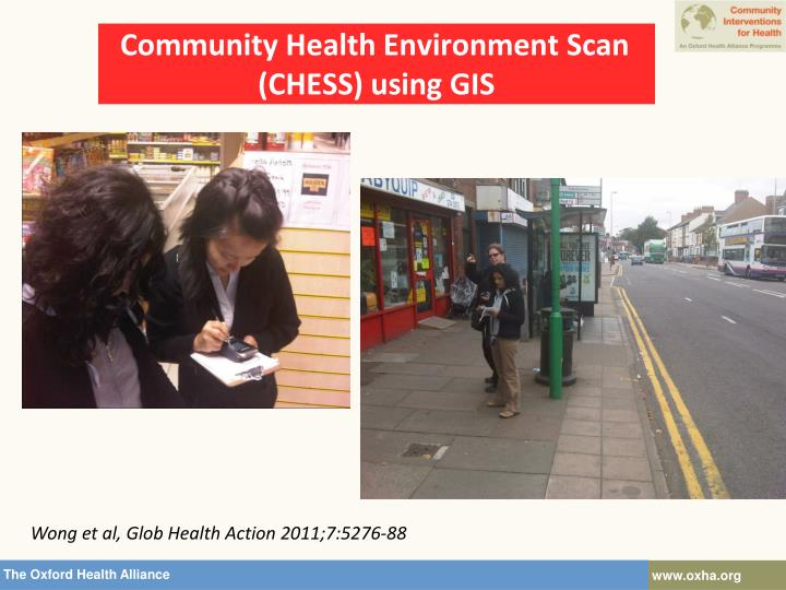 Community Health Environment Scan (CHESS) using GIS