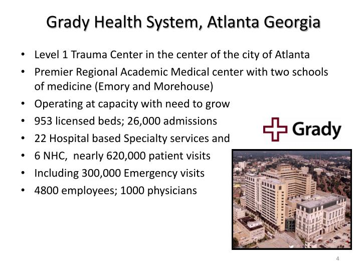 Grady Health System, Atlanta Georgia