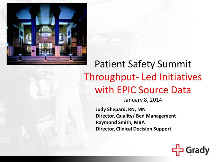 Patient Safety Summit