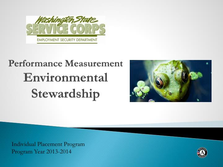 Performance measurement environmental stewardship