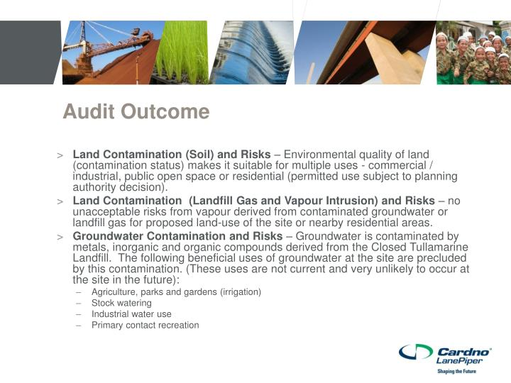 Audit Outcome