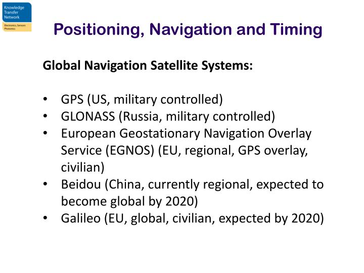 Positioning, Navigation and Timing
