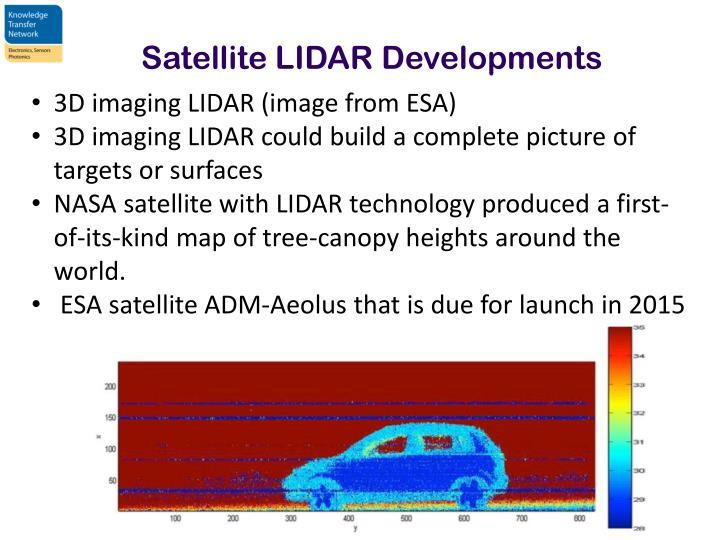Satellite LIDAR Developments
