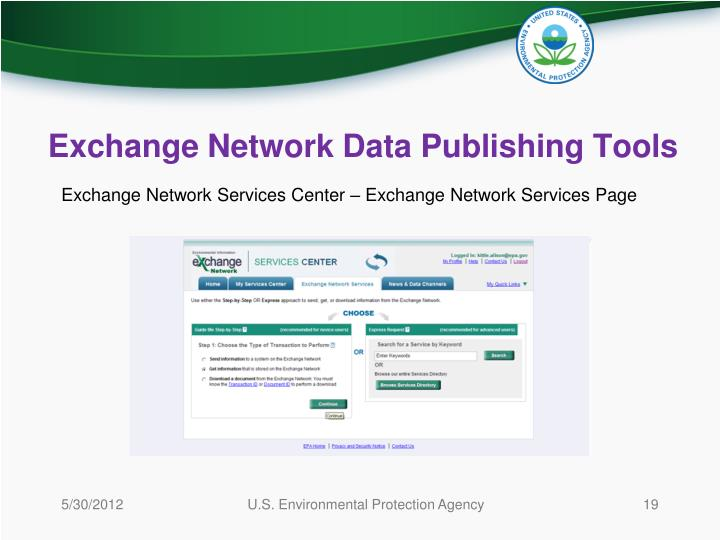Exchange Network Data Publishing Tools