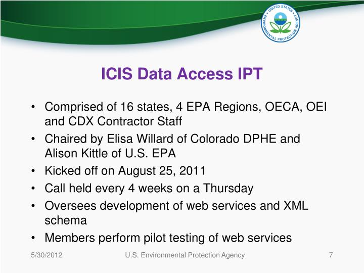 ICIS Data Access IPT