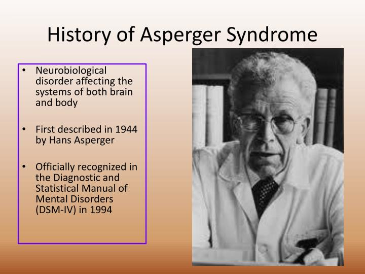 History of asperger syndrome