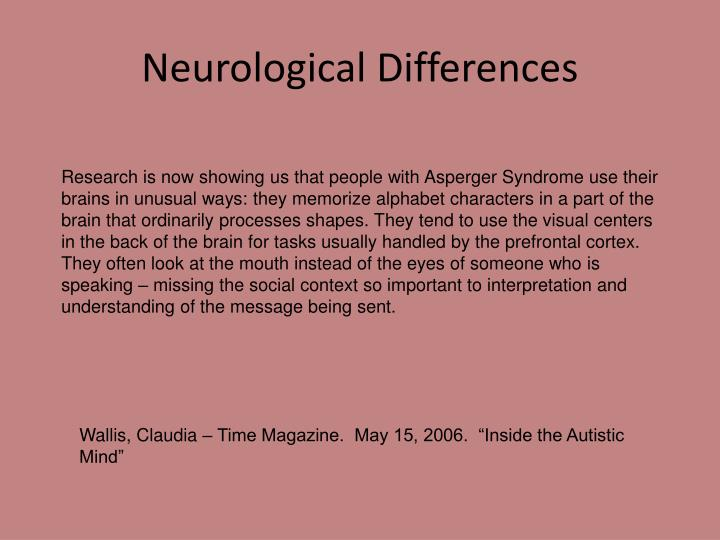 Neurological Differences