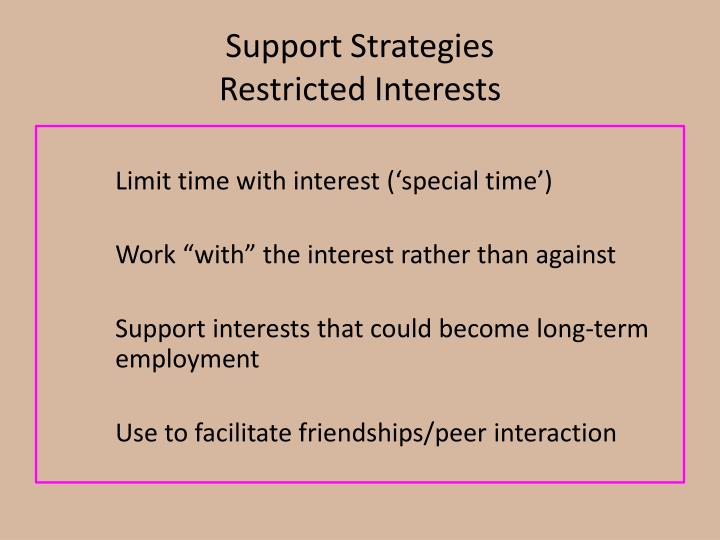 Support Strategies