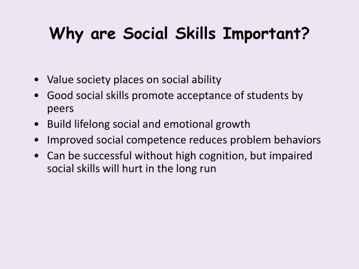 Why are Social Skills Important?