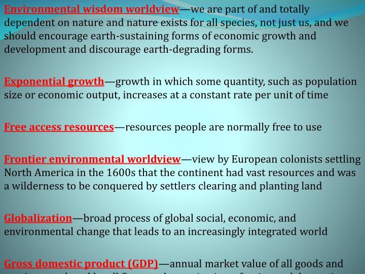 Environmental wisdom worldview