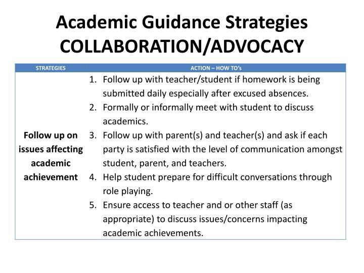 Academic Guidance Strategies