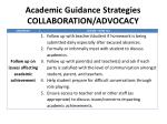 academic guidance strategies collaboration advocacy