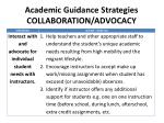 academic guidance strategies collaboration advocacy1