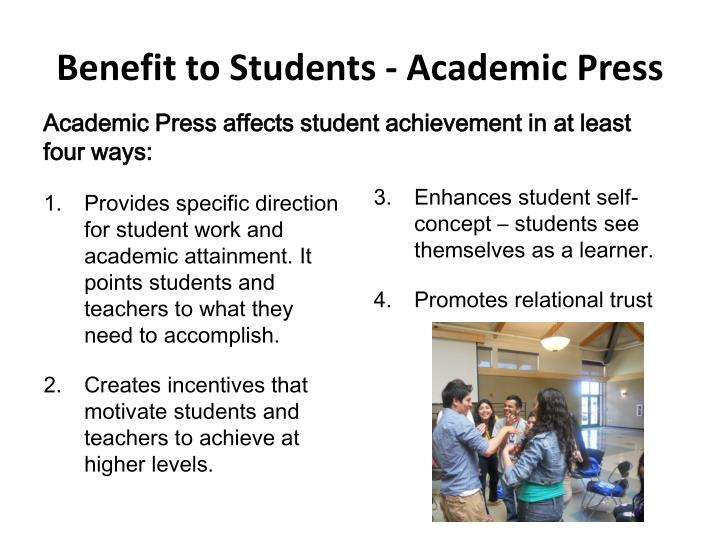 Benefit to Students - Academic Press