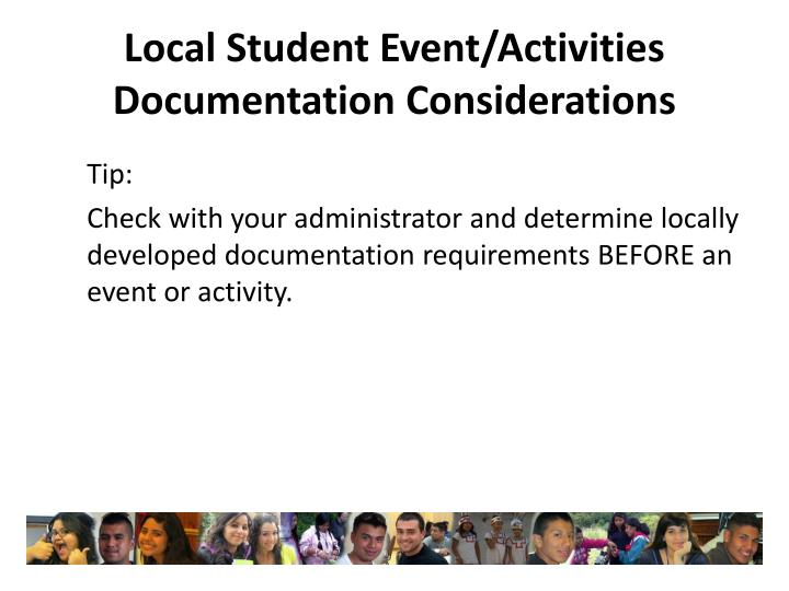 Local Student Event/Activities